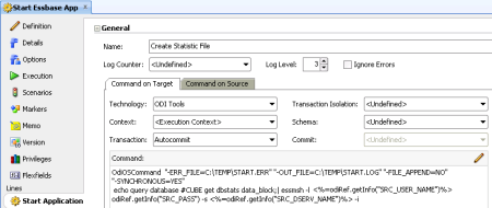 Create Essbase Statistics Procedure