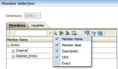 Member Selection Filter