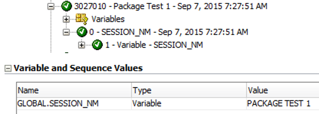 Package test 1 results