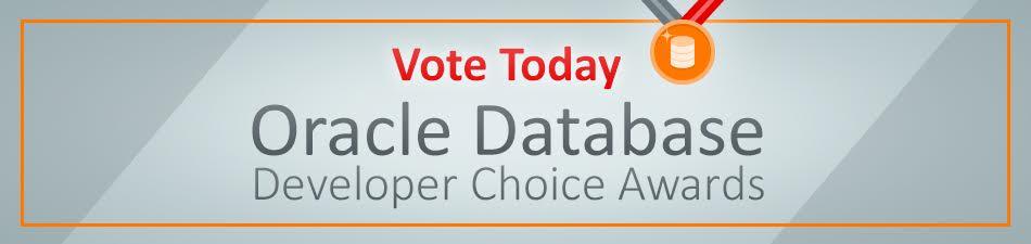 Oracle Database Developer Choice Awards! (2/2)