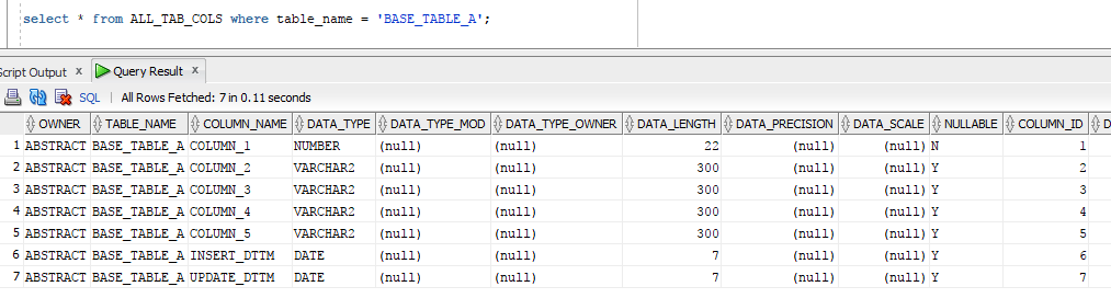 Building dynamic ODI code using Oracle metadata dictionary